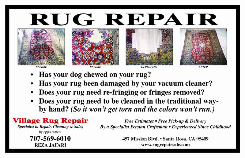 village rug repair sale and cleaning